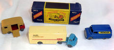 Moko Lesney Matchbox - Div. schalen - Bedford Wall's Ice Cream Truck Major Pack No.M2a, Bedford CA Dunlop Van No.25a en ERF Marshall Horse Box MK7 No.35a