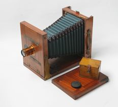 Rare old 13 x 18 wooden plate camera with Rodenstock lens