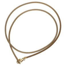 Yellow gold foxtail necklace, 14 kt – 45 cm