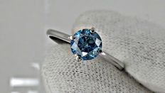 1.05 ct round diamond ring made of 14 kt white gold ***no reserve price ***