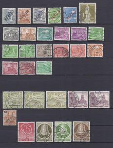 Berlin 1948/1990 - collection of FDCs and GDR official stamps