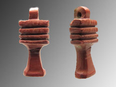 Egyptian Djed amulet of Jasper stone - 13 mm