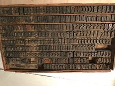 Printing letters drawer Characters which actually served in the early twentieth century in a printing house of Nevers.