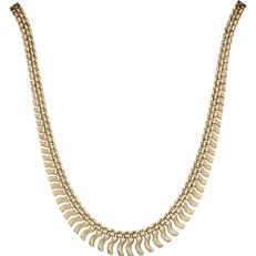 Yellow gold 14 kt link necklace – length: 42.5 cm