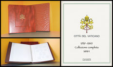 Vatican City, 1939-1960 – Complete collection of Ordinary Post stamps, MNH, set on Marini sheets in album with slipcase.