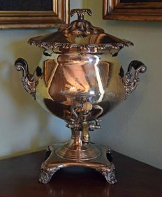 Georgian Sheffield tea urn, samovar of the Regency period - England - ca. 1830