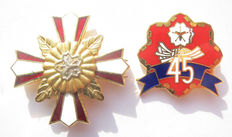Japanese chest star + 45 years of loyal service pin in superb condition-2 x Medal