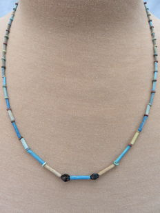 Egyptian necklace with faience beads - 61 cm.