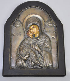 Greek Icon silver front. Replica 44/200