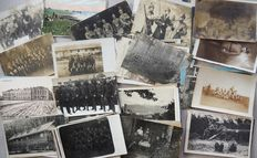 Lot of 128 pieces German Reich photo cards postcards WW1 feldpost stamped.