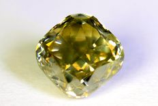 Diamant - 1.11 ct  - Fancy Light Yellowish Gray - SI1