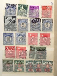 Switzerland 1900/1990 - Batch in 5 stockbooks and on pages