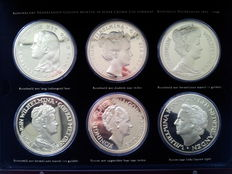 "The Netherlands – Various medals ""Wilhelmina Crown Size Collection"" (6 different) in coffer"