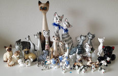Big collection of cat / cats 49 pieces! Manny  beautifull Siamese cats!!!!