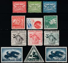 The Netherlands 1921/1953 – Seven complete airmail issues