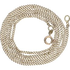 14 kt yellow gold gourmet link necklace - Length: 67.8 cm.