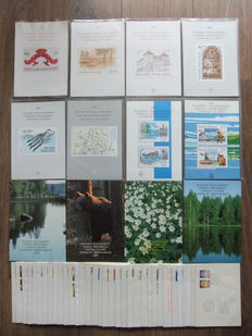 Finland 1980/1991 – Complete collection of year folders and also 35 FDC