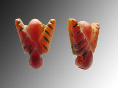 Egyptian carnelian fly amulet - 14 mm