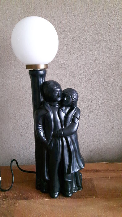 Table lamp with pair and orb, 1970's,The Netherlands
