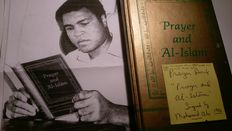 Prayer and Al-Islam signed in the hand of Muhammad Ali - 1986