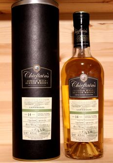 Laphroaig 1998 Chieftains Single Malt Scotch Whisky, bottled 2013, 70cl, 44,3%vol. Hogshead cask, Original Box