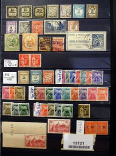 France - composition of postage stamps, telegraph, etc