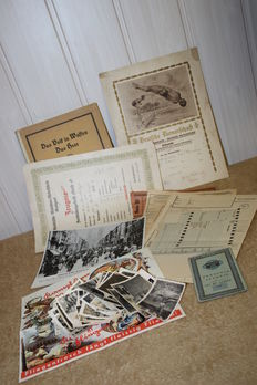 Large collection of written documents / photos / book, etc. from soldiers' estates, 63 military photos,