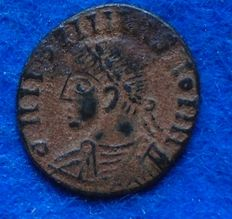 Roman Empire - AE follis of Constantinus II (316-337 A.D.) barbaric imitation, interesting!