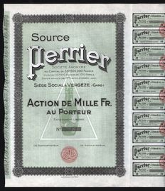 France - Source Perrier, Action de Mille Fr. - Mineral Water Company