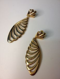 Earrings in polished 18 kt yellow gold ***No reserve price***