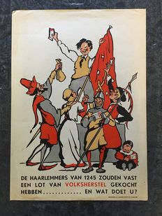 Poster about the Haarlem reconstruction - 1946/1949