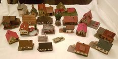 Scenery H0 - Church, water tower, urban and residential houses, 21 pcs