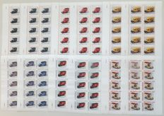 The Netherlands 2009/2010, Save stamp no.: 2 to through no.: 7, in complete sheetlets (2 sets)