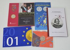 Europe - various year and coin collections (5 different ones) - including silver