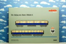 Märklin H0 - 2681 - Wilhelm II imperial court train set with 2 different carriages 8 9287