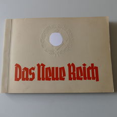 """Das Neue Reich"" cigarette pictures album with 156 pictures very rare"