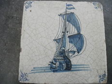 Tile return ship Dutch East India Company travelling to Dutch Indie