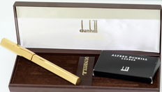 Alfred Dunhill Gemline Classic Fountain Pen in Gold Pinstripe 18K Gold Nib