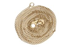 Yellow gold, curb link necklace, 14 kt, length: 68 cm.