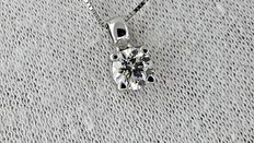 0.57 ct VS2 round diamond pendant in 14 kt white gold *** no reserve price ***