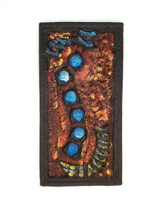 "Designer ""HJ"" – Vintage ceramic wall decoration ""seahorse"""