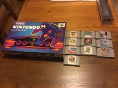 Nintendo 64 near mint 9/10 with 10 games - Jap version