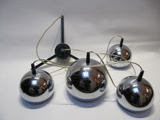 Unknown designer - Ceiling light with four chrome spheres