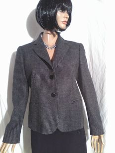 Emporio Armani - Wool and Silk Jacket with Grey Dots.