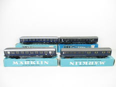 Märklin H0 - 4027/4032/4048/4049 – Four carriages of the NS and DB