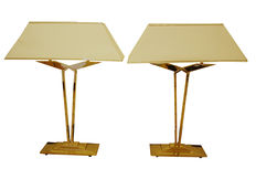 Unknown designer - brass table lamps in Art Deco style (2 x)