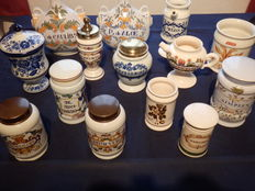 Collection of 14 Pharmacists pots