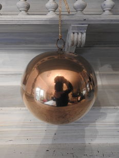Large brass witches' ball - curiosum