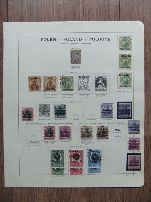 Poland 1860/1935 - Comprehensive collection on old album pages