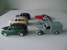CIJ/Quiralu/JRD - Scale 1/43 - Lot of 6 cars: Citroën, Mercedes and 4 x Renault